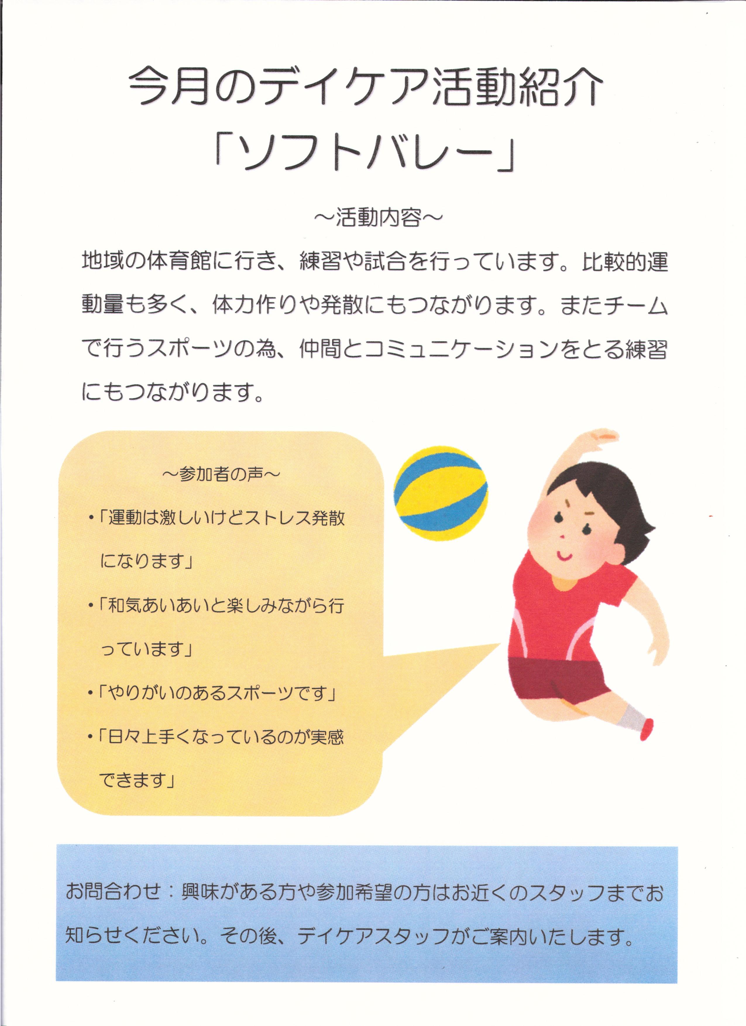 ソフトバレー活動紹介ポスター